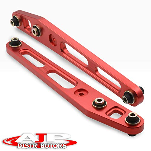 Control Lower Aluminum Rear Arms (Jdm Rear Aluminum Suspension Lower Control Arms Lca Kit Pair Red For Honda Civic)