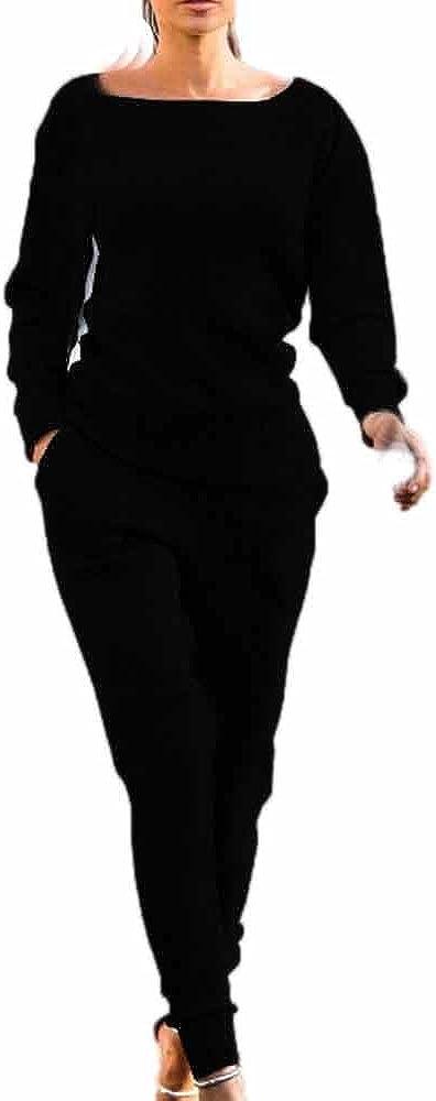 Ladies 2Pcs Sweatshirt Pants Sets Gym Lounge Wear Casual Suit Kingwo Womens Sport Tracksuit