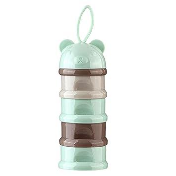 SOKDO Colorful Milk Powder Dispenser Portable Milk Ponder Box Four-layer Detachable Milk Container