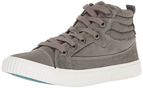 Blowfish Womens Crawler Fashion Sneaker Steel Grey Color Washed Canvas ZhcEsULTmZ