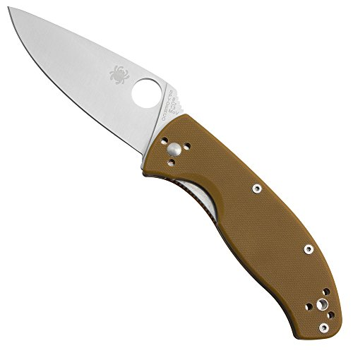 Spyderco SC122GPBN Tenacious Brown G10 Plain Knife
