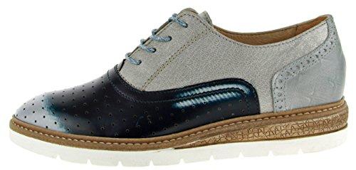 Mjus Damen Sandaletten blau, (blau-kombi) 206108-0101-0003 Blau-Kombi