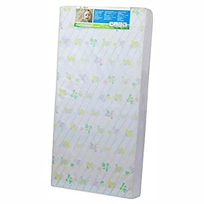 Dream On Me 4 in. Full Size Foam Standard Crib and Toddler Mattress with Reversible Design