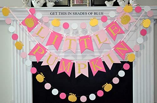 Little Pumpkin Banner, Birthday Banner, First Birthday, Baby Shower, Photo Prop, Fall Party Decorations for baby shower - Fall Decorative Banner