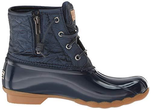 Top Women's Navy Quilt Saltwater Sperry Boot Rain Nylon Sider aEwAqxA8d