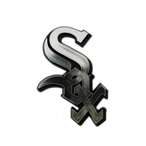 MLB 3D Chicago White Sox Auto Chrome Emblem & Vinyl Decal Chicago White Sox Car