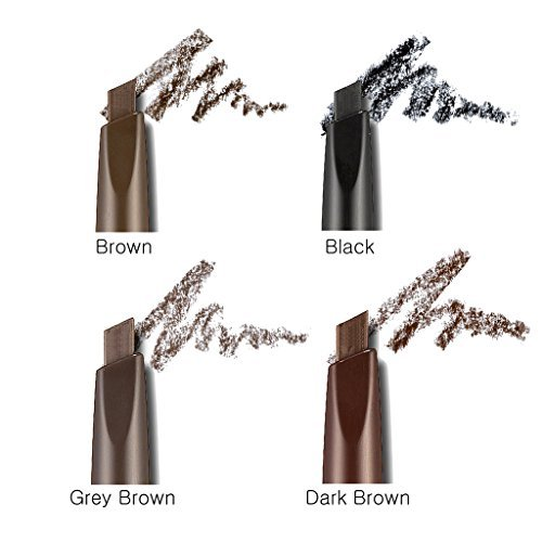 Etude House Drawing Eyebrow 4 Set - Black + Dark Brown + Brown + Grey Brown