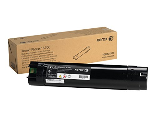 Genuine Xerox High Capacity Black Toner Cartridge for the Phaser 6700, 106R01510 by Xerox
