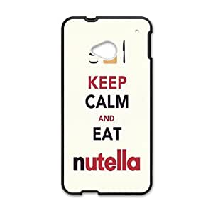 SKULL Keep Calm And Eat Nutella Brand New And Custom Hard Case Cover Protector For HTC One M7