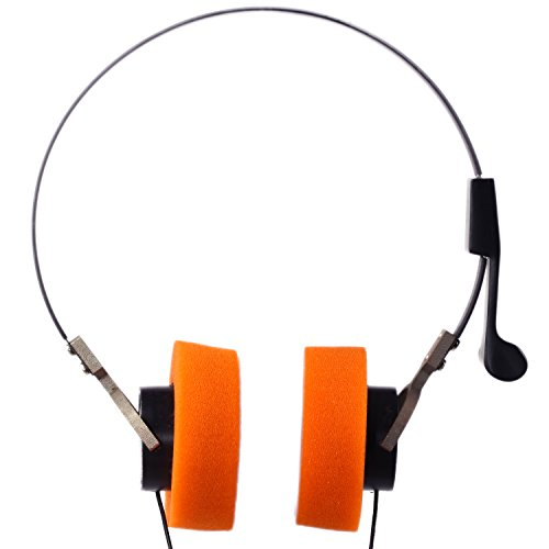 Invent Star Lord Style Walkman Hi-Fi Stereo Earphone Headset Orange ear pad