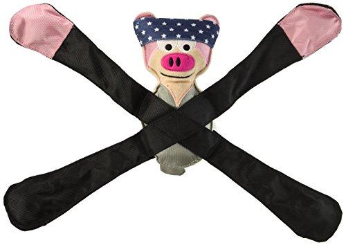 Doggles TYPEPI02 Pentapulls Pink Pig Dog Toy, 11