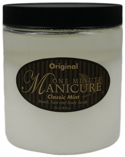 One Minute Manicure Hand, Foot & Body Moisturizing Scrub - 30 Oz (Original Classic Mint)