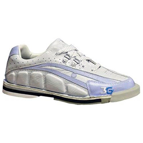 Bowlerstore Products 3G Ladies Tour Ultra Bowling Shoes Right Hand- Periwinkle/Ivory (8 M US, Periwinkle/White)