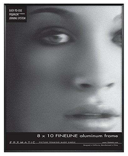 Framatic Fineline 8x10 Inch Aluminum Frame, Black - Frame Minimalist