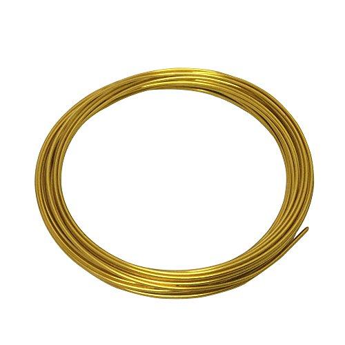 LeGold Aluminum Craft Wire Gold Color 12 Gauge 18 Feet