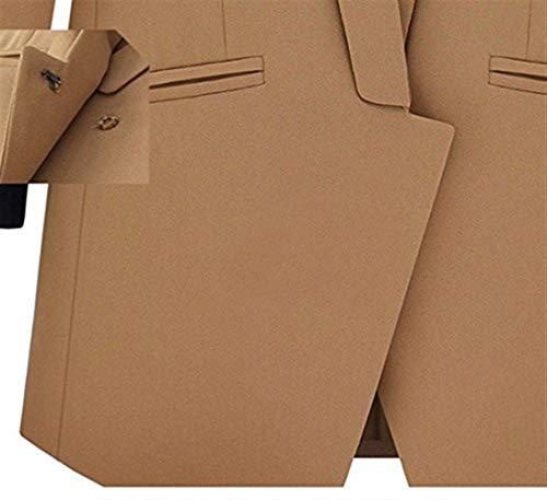 Moda Lunga Cappotto Da Giovane Primaverile Giacca Manica Tailleur Autunno Con Ufficio Fit Vintage Business Tasche Slim Blazer Gelb Donna Outerwear Asimmetrica Bavero Elegante w6q8RX