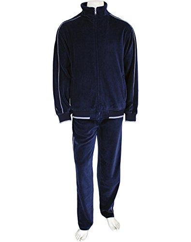 bc0499b334f Sweatsedo Uncle Larry Navy Blue Velour Tracksuit (Large)