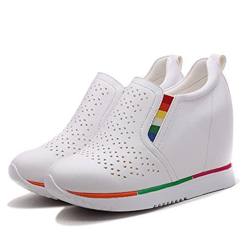 KHSKX-Ventilation Et Épais Bas De Loisirs Printemps De Nouvelles Chaussures Les Chaussures Blanches Des Chaussures Blanches Blanc Profond Forty sTvtBuEO21