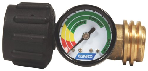 (Camco Propane Gauge/Leak Detector, Type 1 Connection for Gas Grills, RVs and Boats - 59023)