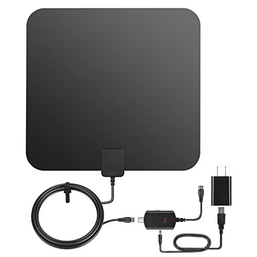 HDTV Antenna, Balight Digital TV Antenna Amplifier Signal Booster - Drawing Board Indoor Television Receiver with 50 Miles Long Range and 10 Feet Coax Cable - USB Power Supply (Hd Dtv Receiver)
