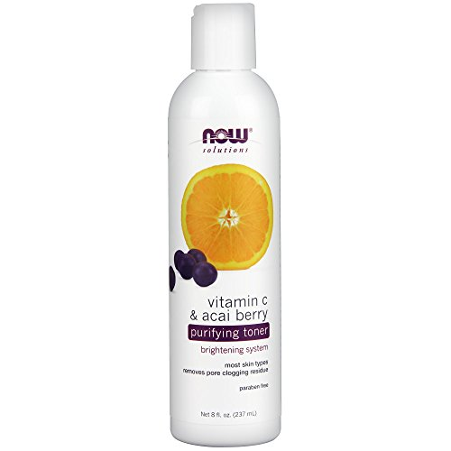 NOW Solutions Vitamin C and Acai Purifying Toner, 8-Ounce