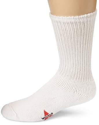 Wigwam Men's King Crew Athletic Socks, White, Large
