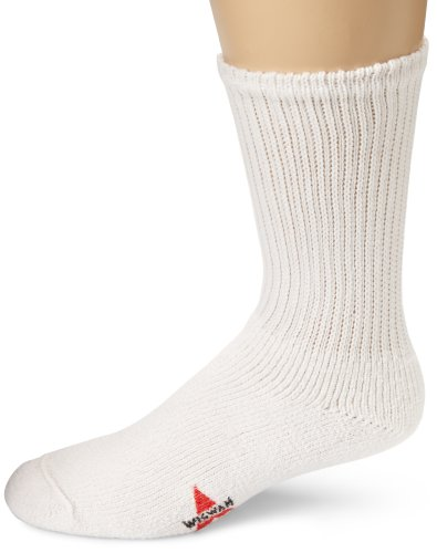 Wigwam Men's King Crew Athletic Socks, White, Medium
