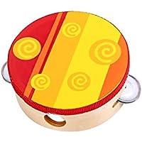 Tooky Toy - Pandereta de Madera. Instrumento Musical para niños a Partir de 3 años