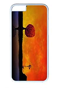 Personalized Custom Cases for iPhone 6 PC White Edge - Autumn Sunset 2 Cover