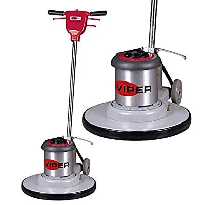 "Viper Cleaning Equipment VN1715 Venom Series Low Speed Buffer, 17"" Deck Size, 175 rpm, 50' Power Cable, 110V, 1.5 hp, 16"" Pad Driver"