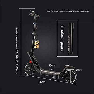 WRRAC-Trampolines Street Scooter Kids Scooter Retro Kick Push Childs Stunt Scooter Handlebar Brake Tricks Kick Scooter Decent Entry Level Pro Scooter Aluminum Deck Stable for Adults, Kids: Home & Kitchen