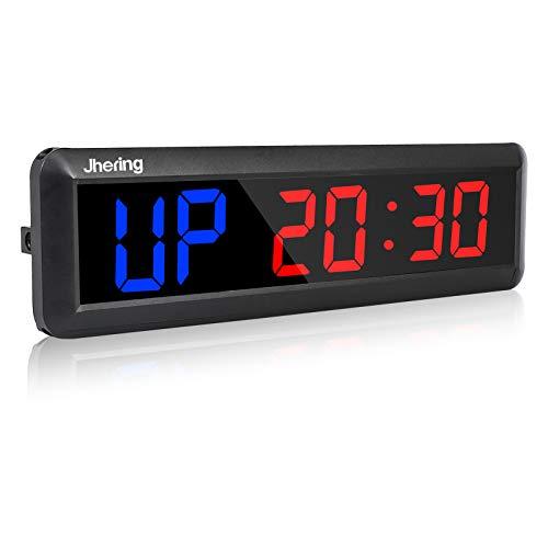 "N/ A Jhering Interval Gym Timer Stopwatch 2.3 ""Led Programmeerbare Tabata EMOM MMA Count Omhoog/omlaag Klok (Blauw/Rood)"