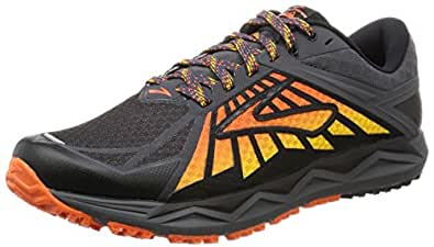 Brooks Men's Caldera Anthracite/Red Orange/Black 7.5 D US