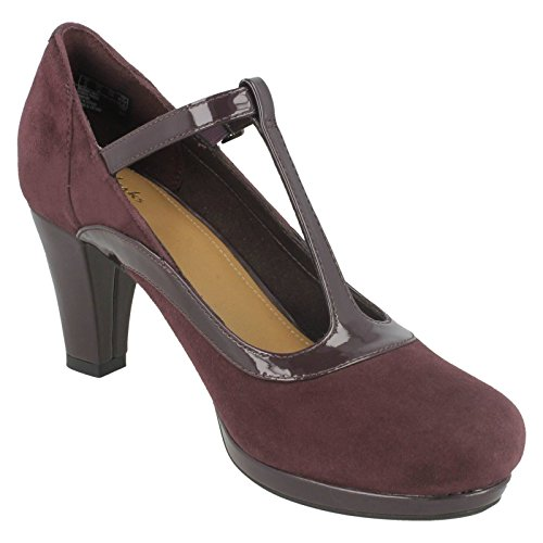 T Shoes bar Clarks Smart Aubergine Court E Chorus Pitch 7 Women's X0xwwcIAq