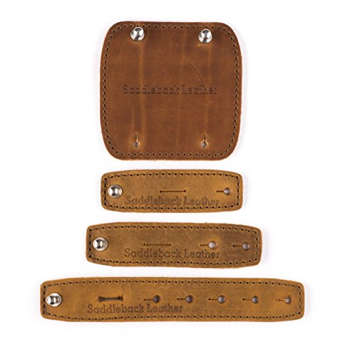 Saddleback Leather Cord Wrap Set - 100% Full Grain Leather Cable Management Straps with 100 Year Warranty (Full Cable Set)