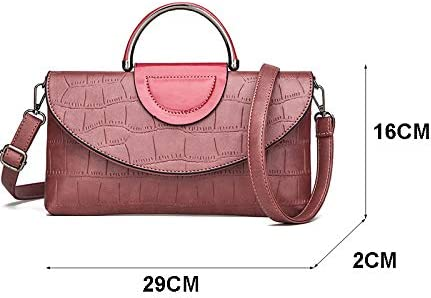 TRYB.UO Fashion Stone Pattern Portable Casual Party Party Bag Wild Personality Temperament Single Shoulder Messenger Bag Purple W29H16D2 cm