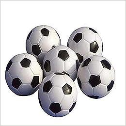 Ndier Mesa Soccer Foosballs Reemplazo Mini plástico Blanco y ...