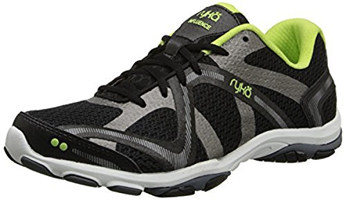 Ryka Women's Influence Training Shoes Black / Green / Grey 7 / M and HDO Workout Headband Bundle