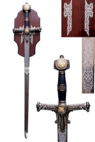 King Soloman Medieval Sword with Hanging Plaque