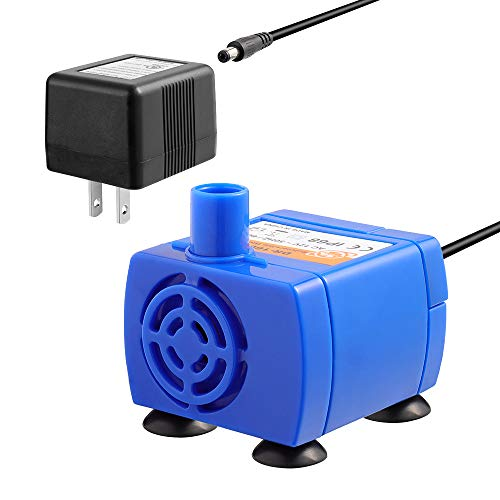 Veken Replacement Pump for Cat Water Fountain Pet Fountain Ultra Quiet Long Lifespan Water Pump with Adaptor and 6 ft Power Cable