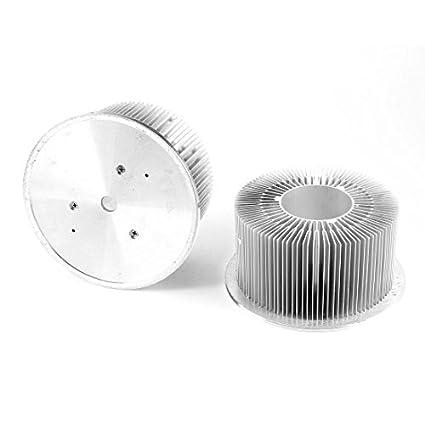 2 Pcs 21-24Watt Luz LED alumínio dissipador de calor radiador de arrefecimento Placa Fin