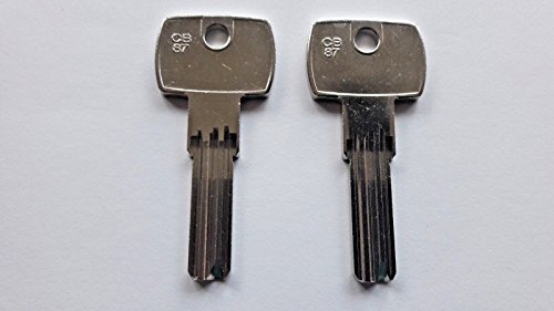 2 X CB87 SILCA/COR-37 JMA Corbin Key Blanks