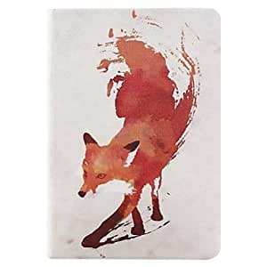 Red Fox Pattern PU Full Body Case Folio Case for iPad mini 1/2/3 by ruishername