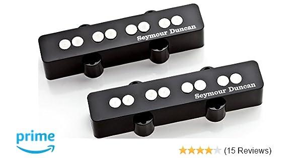 Amazon.com: Seymour Duncan Quarter Pound Jazz Bass Set Electric ...