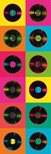 Vinyl Records Pop Art Door Giant Poster 21x62 inch