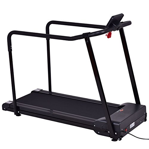 Goplus Electric Treadmill Walking Jogging Machine For Seniors Elders W/ Extra long Handles