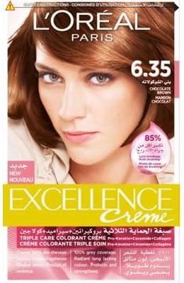 Excellence Crema LOréal marrón chocolate 6.35: Amazon.es ...