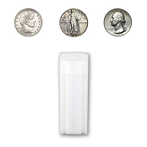 (CoinSafe Quarter Tube - Each Tube Holds 40ea Barber, Standing Liberty, and Washington Quarter Coins)