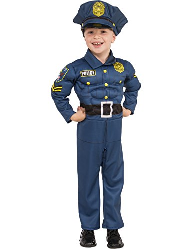 Rubies Costume Child's Top Cop Costume, X-Small, Multicolor (Toddler Police Uniform)