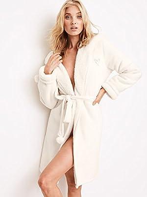 Victoria's Secret Luxe Fleece Pom-Pom Robe Size M/L